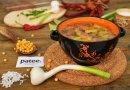 Гороховый суп с копченой колбасой