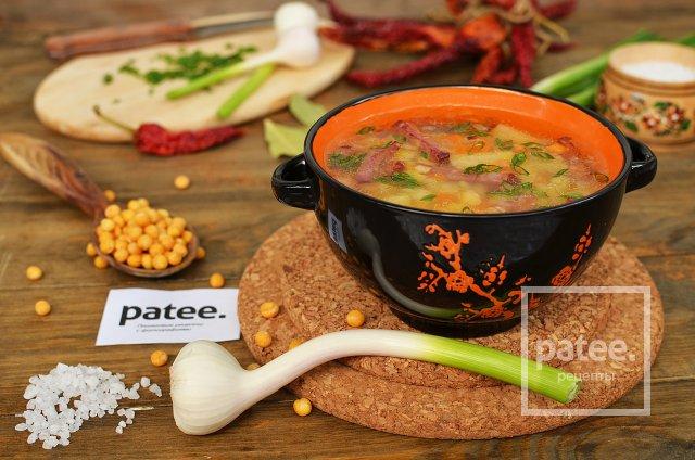 Гороховый суп рецепт с копченой колбасой с пошагово