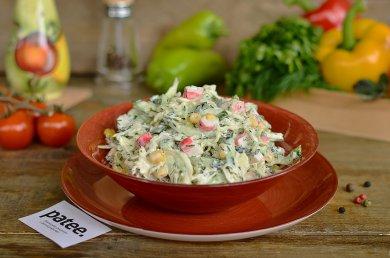 Рецепт Капустный салат с крабовыми палочками