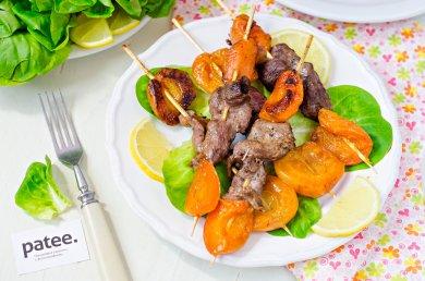Рецепт Шашлык из утиной грудки с абрикосами