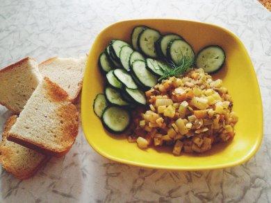 Рецепт Тушеные кабачки с овощами.