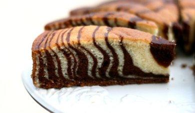 """Рецепт Бисквитный торт """"Зебра"""""""