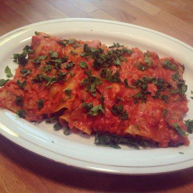 Рецепт Фаршированные макароны под соусом