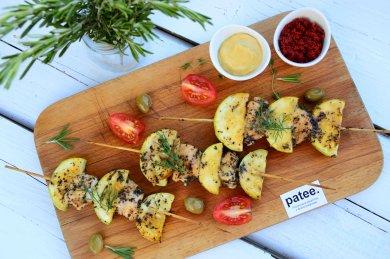 Рецепт Шашлычки из курицы с кабачками