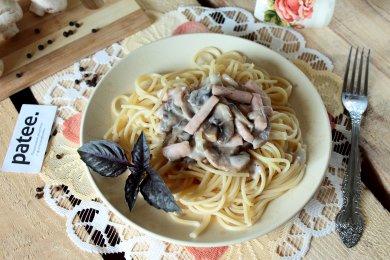 Рецепт Паста с ветчиной и грибами