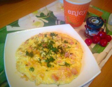 Рецепт Утренний омлет с ветчиной и сыром