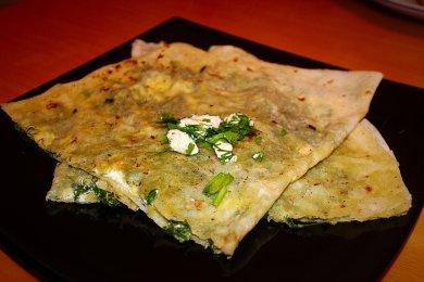 Рецепт Кутаб с зеленью