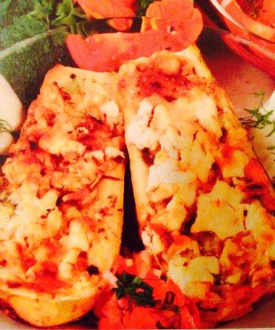 Рецепт Кабачки, фаршированные сыром