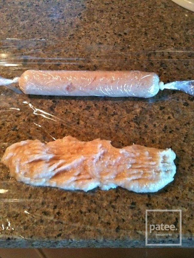 Сосиски своими руками в пищевой пленке