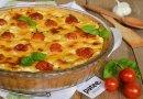 Тарт с творогом и помидорами