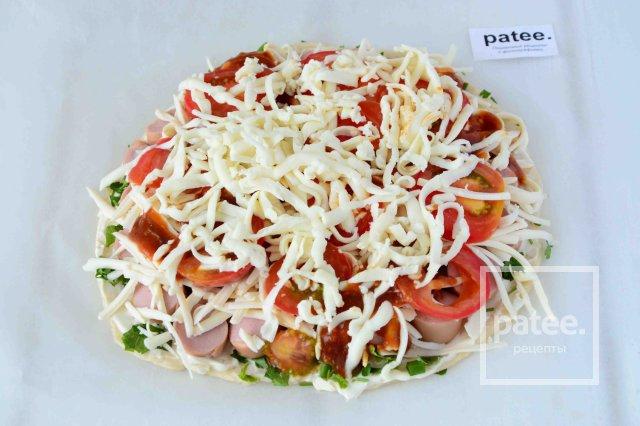 Пицца с зеленью и сыром рецепт