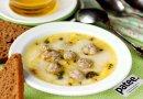 Сырный суп с фрикадельками и тимьяном