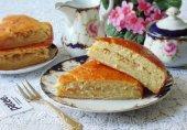 Сдобный пирог с капустой на кефире