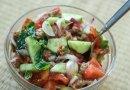 Легкий итальянский салат Панцанелла