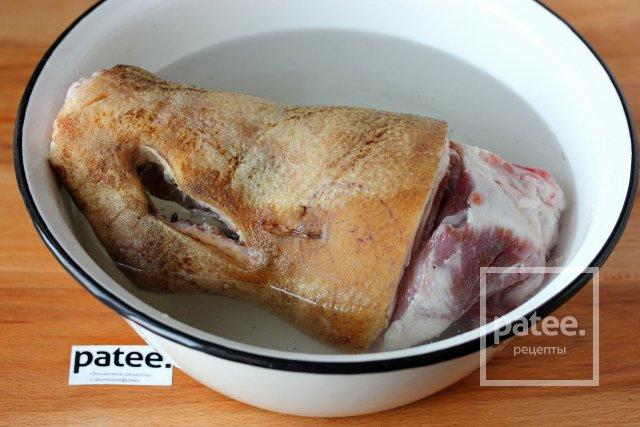 Холодец свиной из голени рецепт