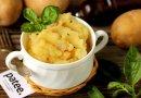 Картофельное пюре с салом и луком