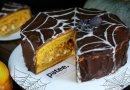Тыквенный торт Паутинка на Хэллоуин