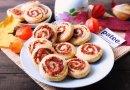 Закусочное печенье с салями и сыром