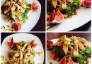 Салат из свежих овощей с курицей
