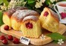 Воздушные пирожки с замороженной вишней