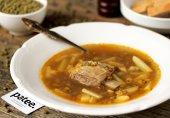 Суп с говядиной и машем