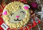 Новогодний торт Овечка