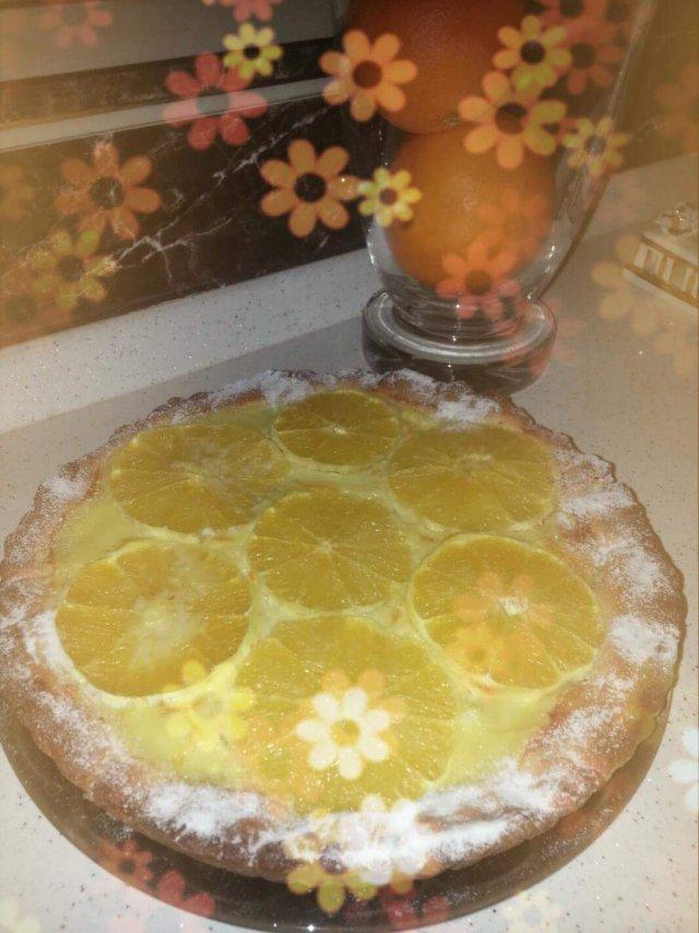 Рецепт песочного пирога с апельсином