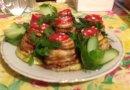 Жареные кабачки под помидорным соусом