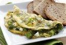 Омлет с брынзой и брокколи