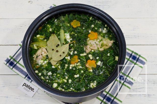 Суп из крапивы с яйцом в мультиварке рецепт