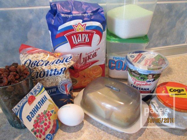 Печенье изсяных хлопьев калорийность