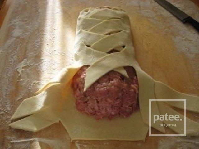 Рецепты мясной рулет в тесте
