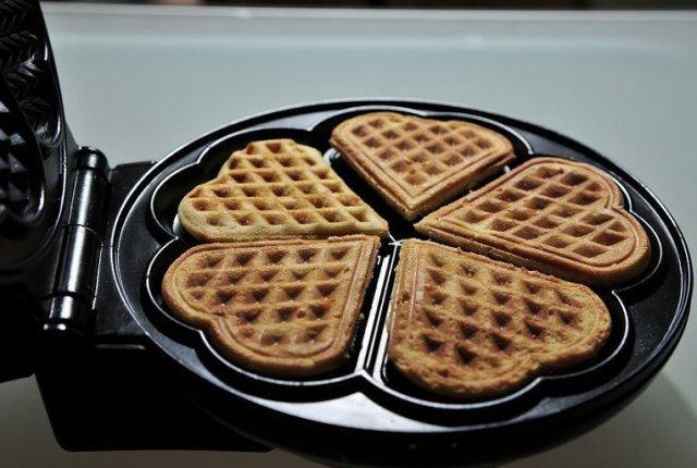 Вафли сердечки для вафельницы рецепт фото