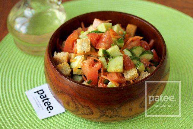 Салат овощной с сухариками рецепт с