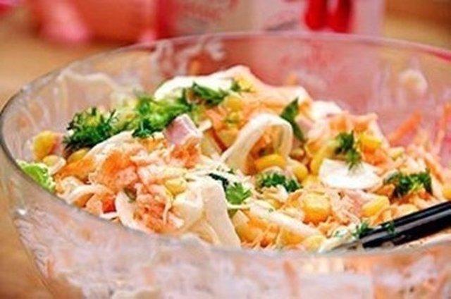 Салаты с ветчиной и овощами рецепты с