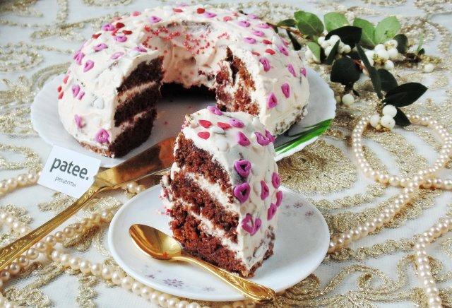Сметанный торт с вишней рецепт фото