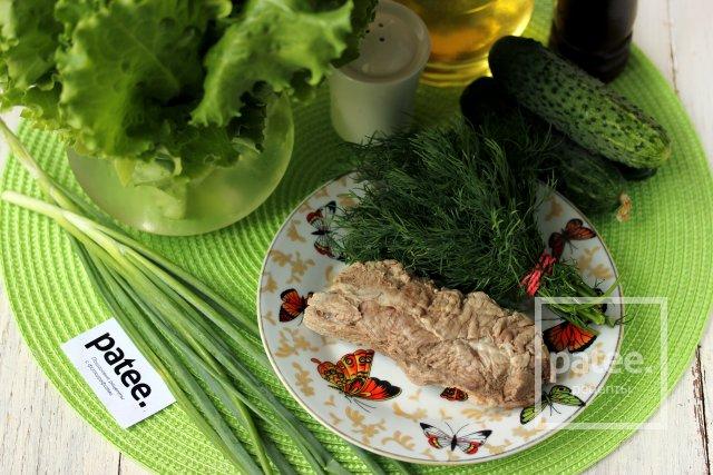 Салат зеленый с огурцами калорийность на 100 грамм
