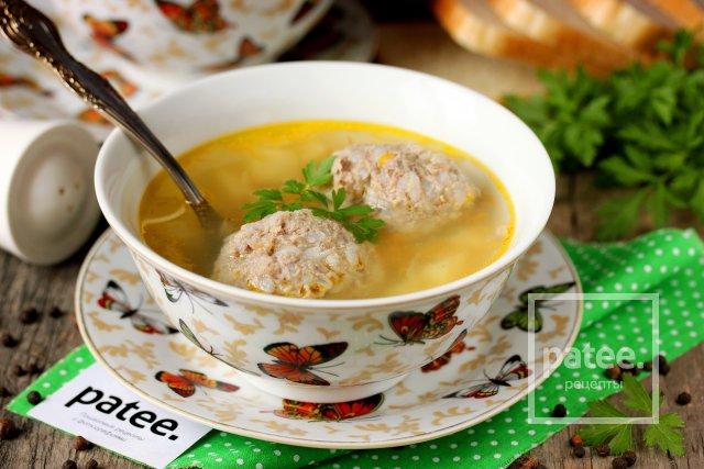 пошаговые фото рецепты суп с тефтелями
