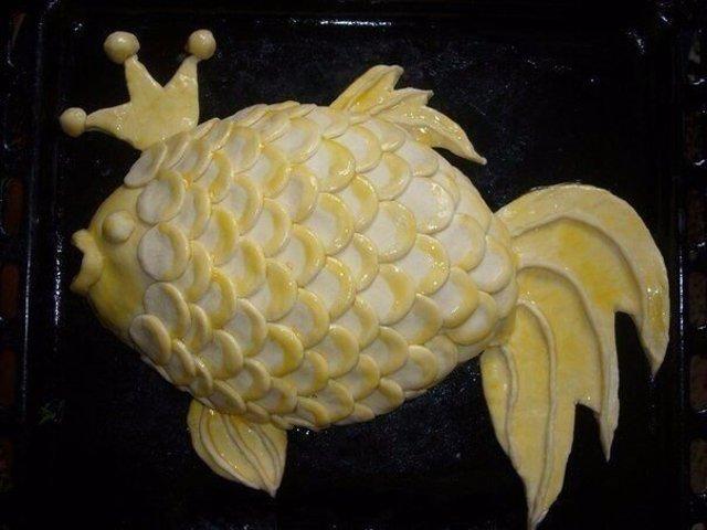 Пирог золотая рыбка рецепты
