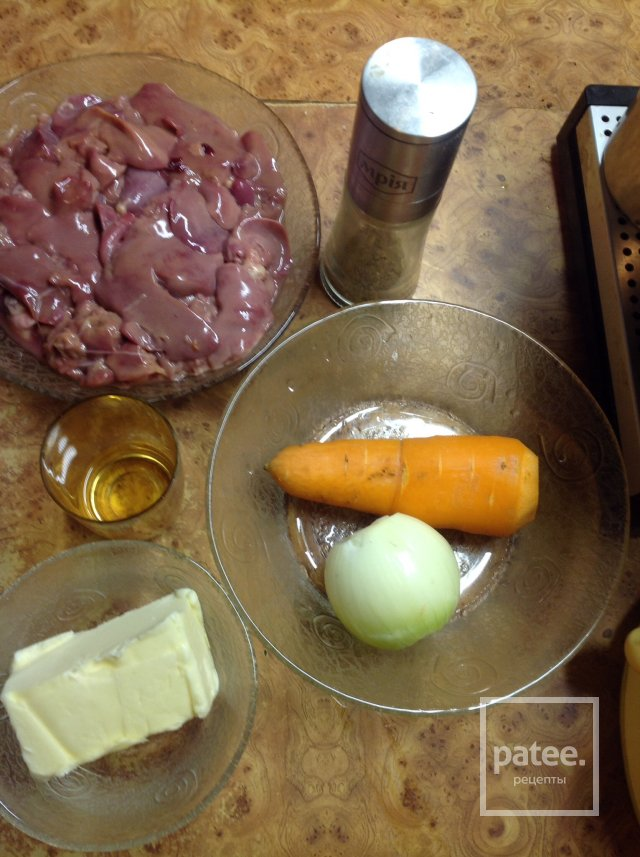 Куриный паштет из печени калорийность на 100 грамм