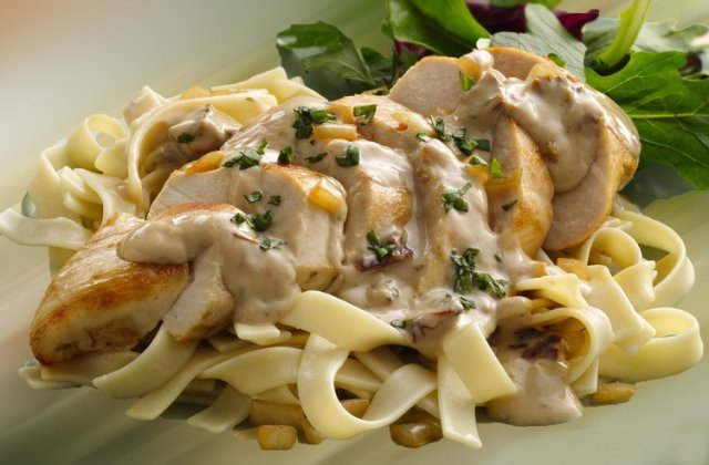 Паста с курицей в сливочном соусе рецепт с фото пошагово
