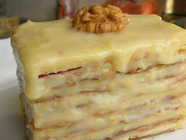 Слоеное тесто со сгущенкой пошаговый рецепт с