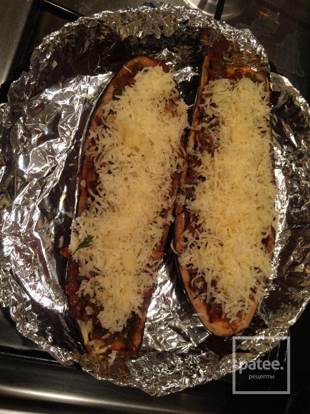 грибы баклажаны и мясо рис рецепт