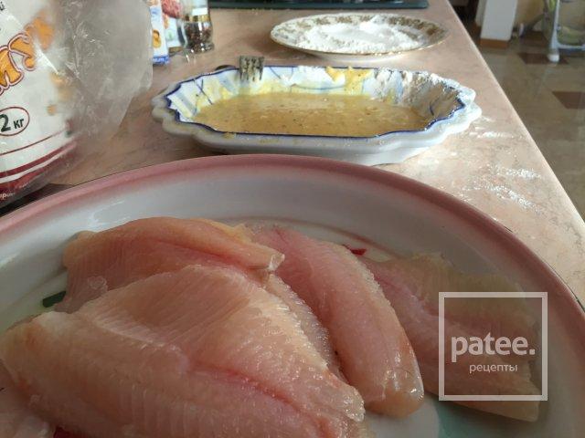 Приготовить филе минтая с рисом