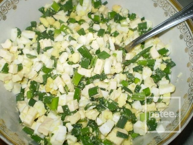 Салат из яиц и зеленого лука рецепт