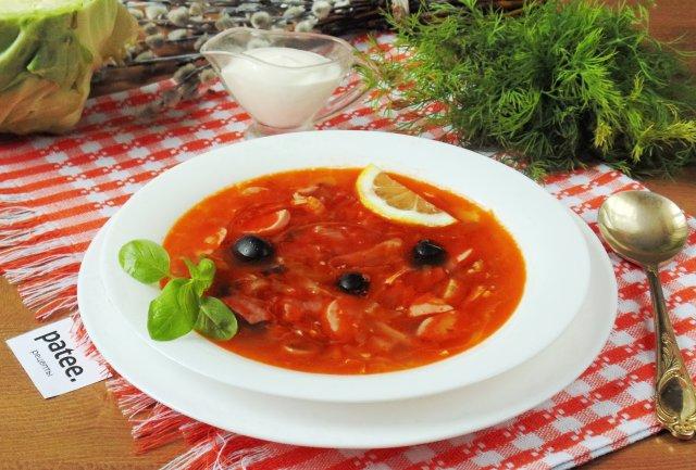 Солянка с грибами классическая рецепт с фото