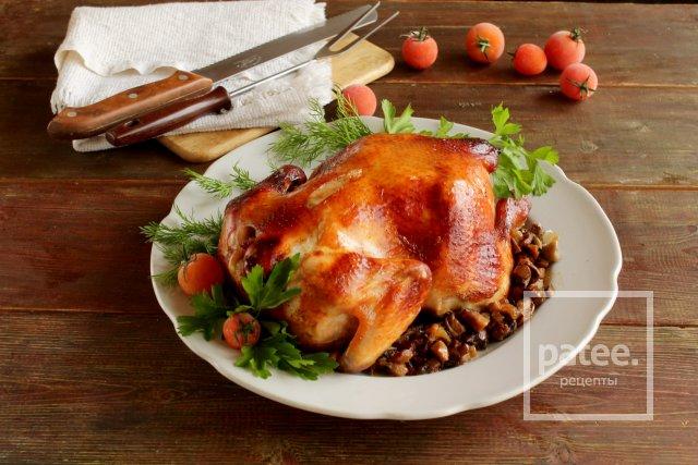 Курица в духовке с шампиньонами рецепты простые и вкусные