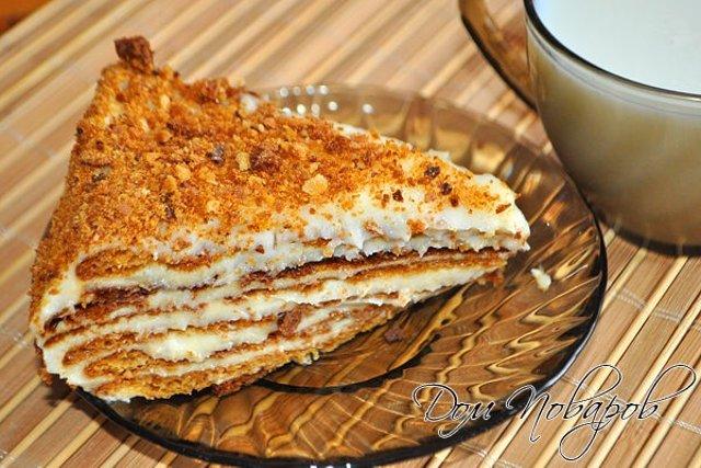 Торт медовик с заварным тестом пошаговый рецепт