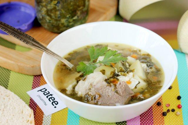 суп щавеля консервированного рецепт фото