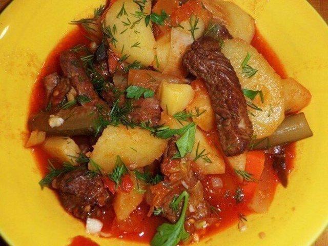Как приготовить азу по татарски из курицы